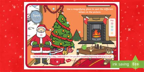 * New * Christmas Spot The Phase 2 Letters And Sounds Activity