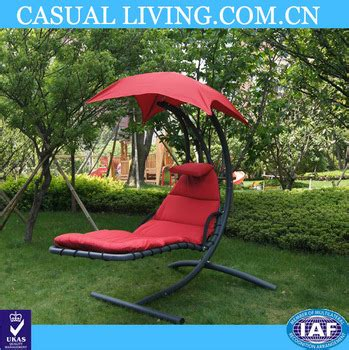Floating Swing Chaise Lounge Chair Hammock Lounger Red