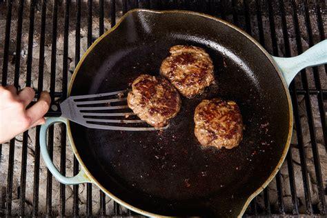 grill  burgers   cast iron skillet