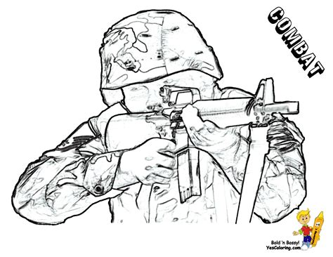 army soldier coloring page az coloring pages