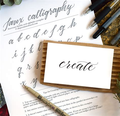 Faux Calligraphy Tutorial  The Postman's Knock