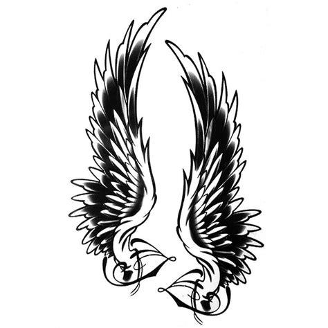 tatouage temporaire ou ephemere ailes d ange