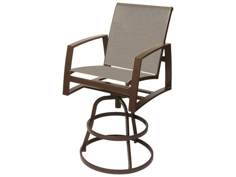 suncoast vision sling cast aluminum arm swivel bar stool