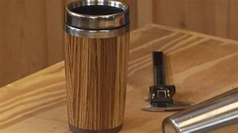 custom wood travel mug  stave construction wwgoa