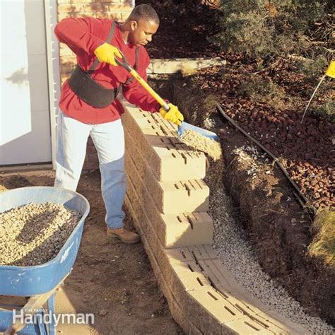How To Turn Water Back On In House - how to build a concrete block retaining wall the family