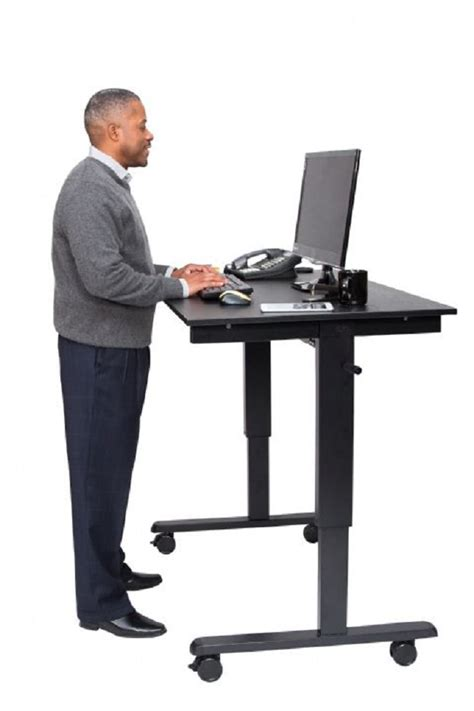 crank standing desk crank adjustable stand up desk free shipping