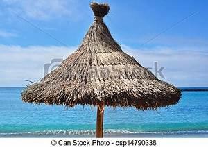 Parasol En Paille : photos de paille parasol sur a beau exotique plage csp14790338 recherchez des images ~ Teatrodelosmanantiales.com Idées de Décoration