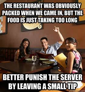 The restaurant was obviously packed when we came in, but ...
