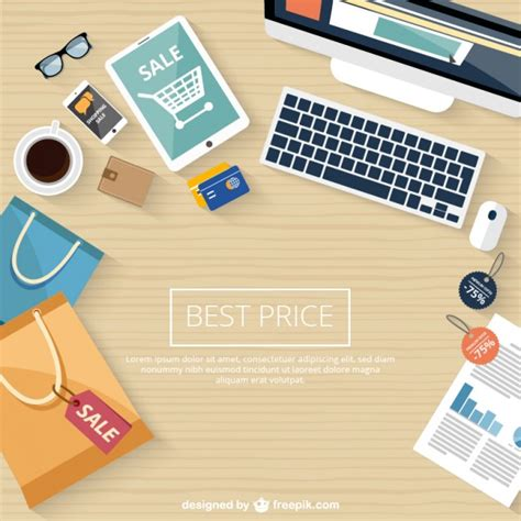 vector shopping  sale background