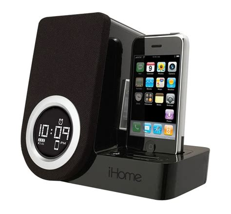 iphone alarm clock ihome ip41 rotating alarm clock for ipod and