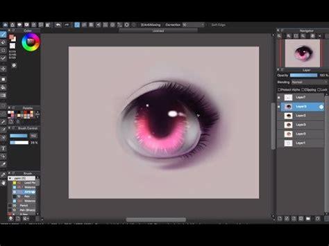 coloring eyes tutorial medibang paint doovi