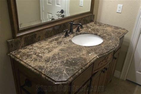 Emperador Dark Marble Bathroom Countertops, Natural Brown