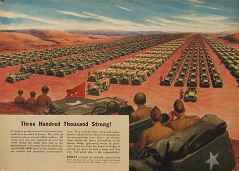 1944 Wwii Dodge Army Trucks Ad, Vintage Truck & Bus Ads