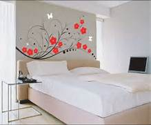 Flowery Wall Pattern Ideas Closed Plain Pillow On Simple Double Bed Typical U S Common House Floor Plan To The Rooftop And A Plain White House With Only One Window Awesome With Image Of Interior Architecture Plans Free New At