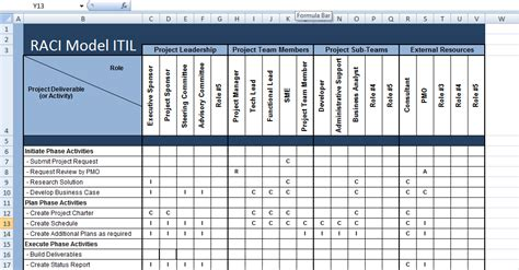xls raci model itil excel template microsoft excel
