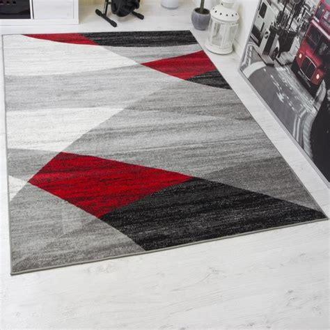 tapis design moderne  cm blanc noir  rouge