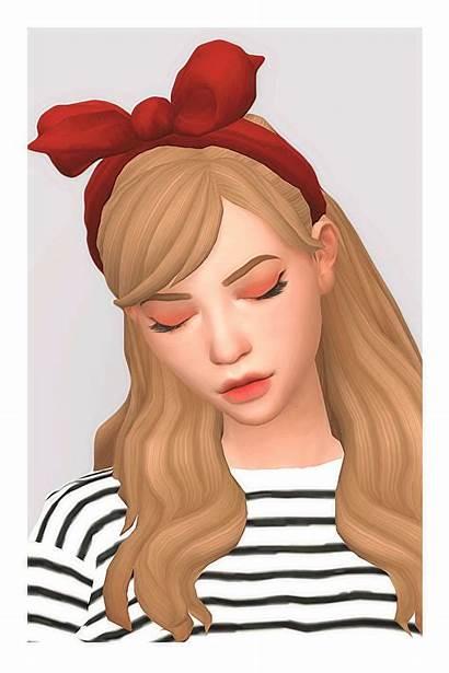 Sims Syaovu Child Cc Toddler Head Ribbon