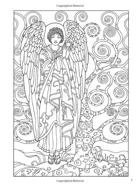 Adult Coloring Book Pages Angels