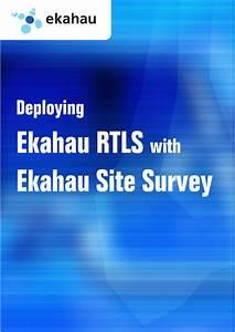Ekahau Site Survey User Guide For Deploying Ekahau Rtls