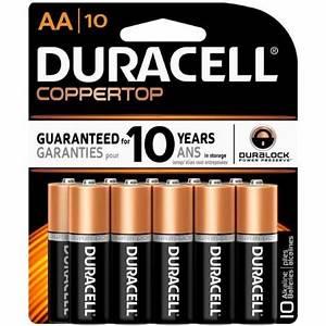 Batterie 1 5 Volt : duracell coppertop alkaline batteries 1 5 volt aa 10 each ~ Jslefanu.com Haus und Dekorationen
