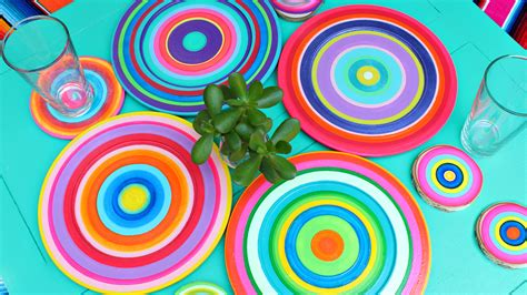 colorful dishes montano colorful summer dishes diy
