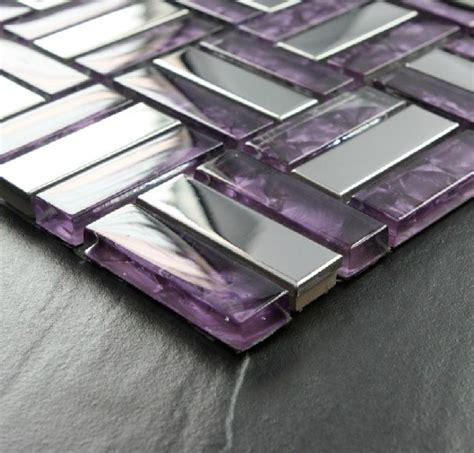 purple kitchen backsplash stainless steel mosaic tile purple glass mosaic kitchen