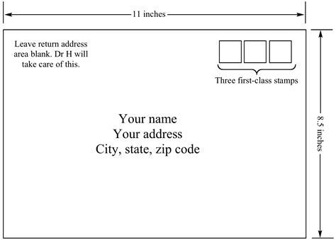 how to address an envelope instructions for final exam return envelope