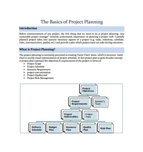 Project Activity Plan Template by 19 Useful Sle Project Plan Templates To Downlaod