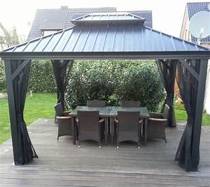 Gartenpavillon Metall Mit Festem Dach : pavillon holz mit festem dach ~ Bigdaddyawards.com Haus und Dekorationen