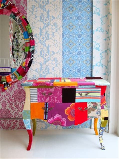 patchwork fabric covered furniture pinpoint