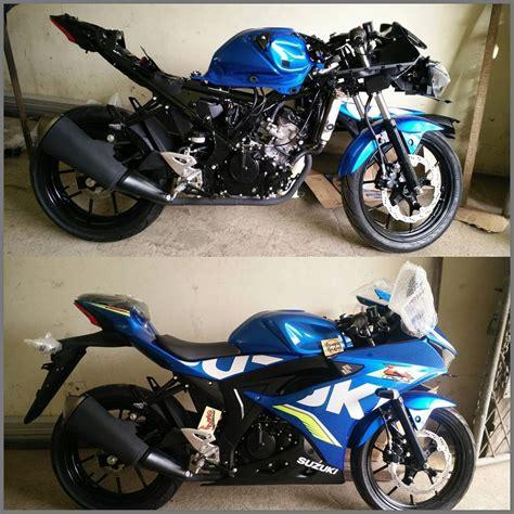 Modification Suzuki Gsx R150 by Modifikasi Suzuki Gsx R 150 Cafe Racer Remcakram