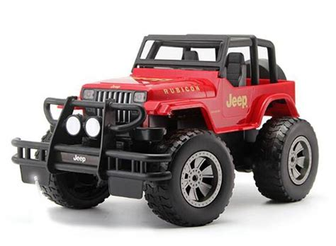 red toy jeep kids red yellow 1 12 full functions r c jeep rubicon toy