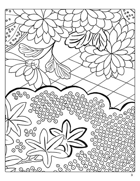 japanese coloring book japanese decorative designs coloring book