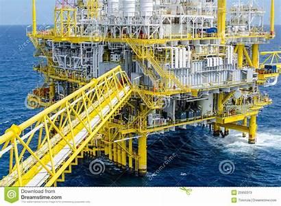 Platform Offshore Zee Wolken