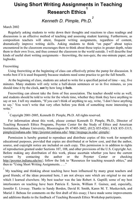 6 example of an essay penn working papers 677 | Sample Teaching