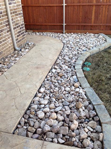 installing river rock river rock beds remodeling contractor complete solutions flower mound tx