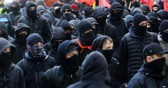 Image result for images of antifa thugs