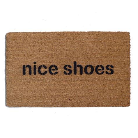 shoes doormat shoes yep your doormat is doing the talking