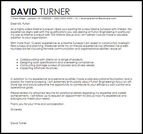 Cover Letter For Land Surveyor Resume by Marine Surveyor Cover Letter Sle Cover Letter