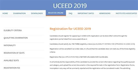 uceed application form   date apply