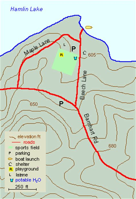 Hamlin Lake Boat Launch by Wilson Hill Park Map And Guide