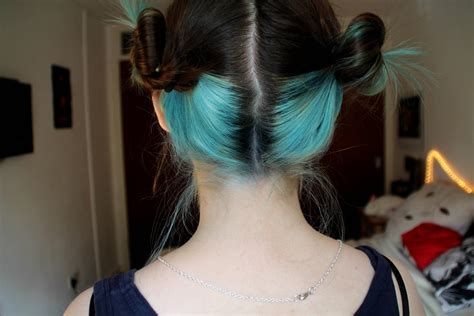 I Dyed The Lower Half Of My Hair Light Blue 3