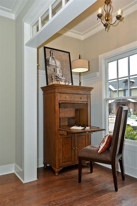 secretary desk  hutch living room traditional
