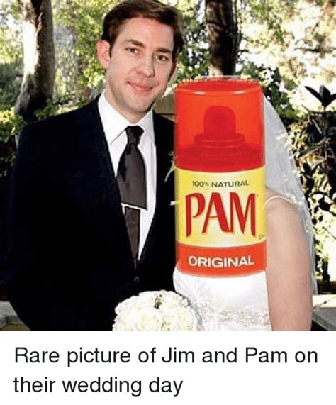 NATURAL PAM ORIGINAL Rare Picture Of Jim And Pam On