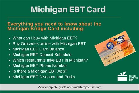 michigan ebt card answers questions food stamps