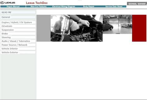 car owners manuals free downloads 2012 lexus gx electronic valve timing lexus gx460 gx400 techdoc repair manual