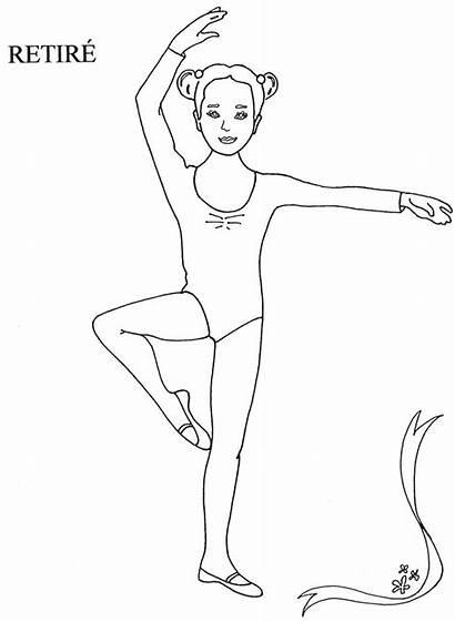 Dance Coloring Ballet Pages Releve Class Position