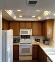 It involves removing the old fixtures, installing the recessed lights, and repairing any ceiling damage left over from the old light fixtures. replacing recessed fluorescent lights in kitchen   DIY & Crafts   Pinterest   The two, In ...