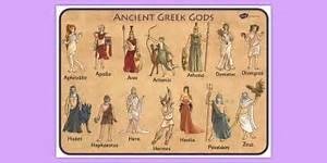 Ancient Greek Gods Word Mat Ancient Greece Visual Aid