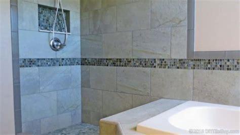 walk in shower tile 5 tile edge trim options besides bullnose tile diytileguy